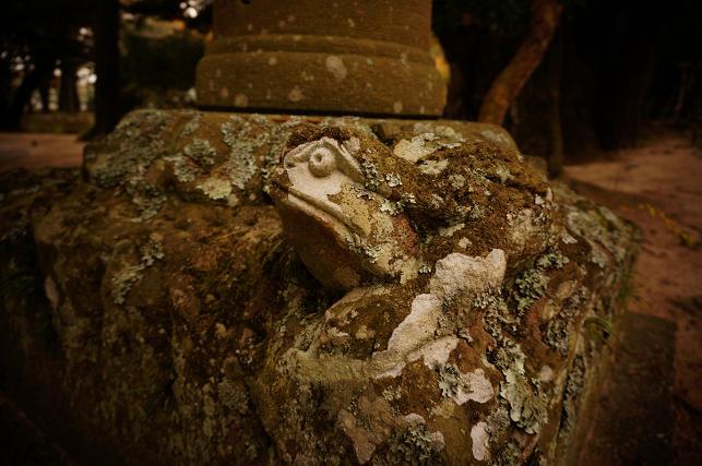 21 石灯篭のカエル.JPG