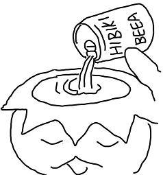 カッパの正しいビールの飲み方.JPG